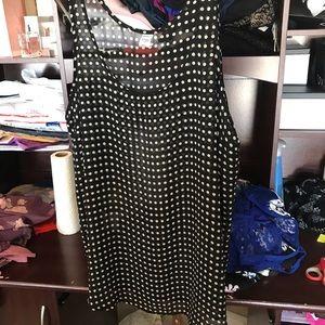 4/$20 Sheer polka dots tank top